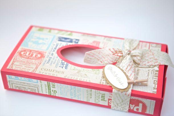Kleenex-Box mit Produkten von Stampin Up!