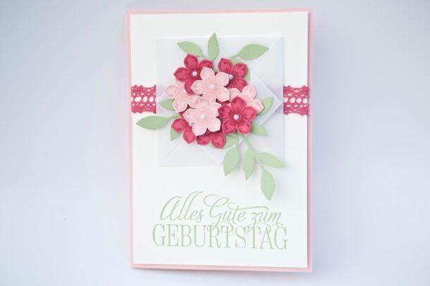 Geburtstagskarte mit Produkten von Stampin Up!