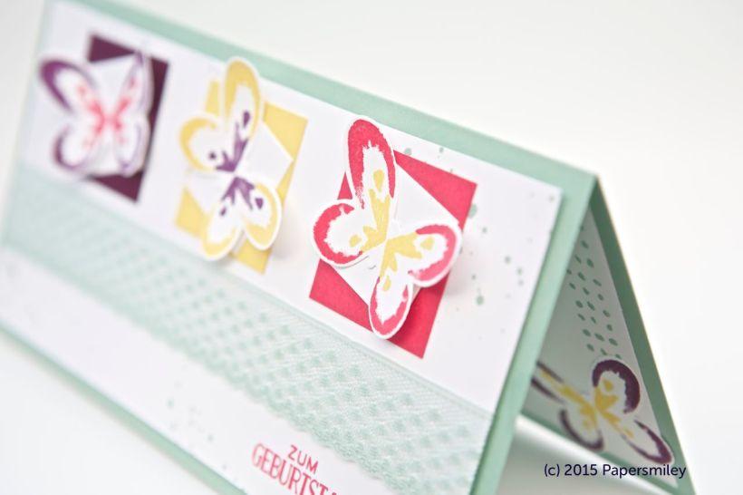 Bunte Schmetterlinge mit Produkten von Stampin Up!
