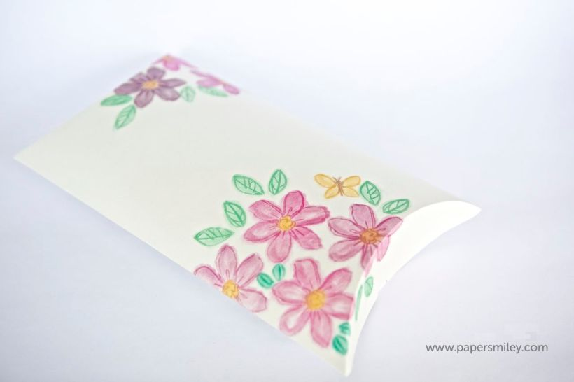 Pillow-Box mit Garden in Bloom von Stampin Up!