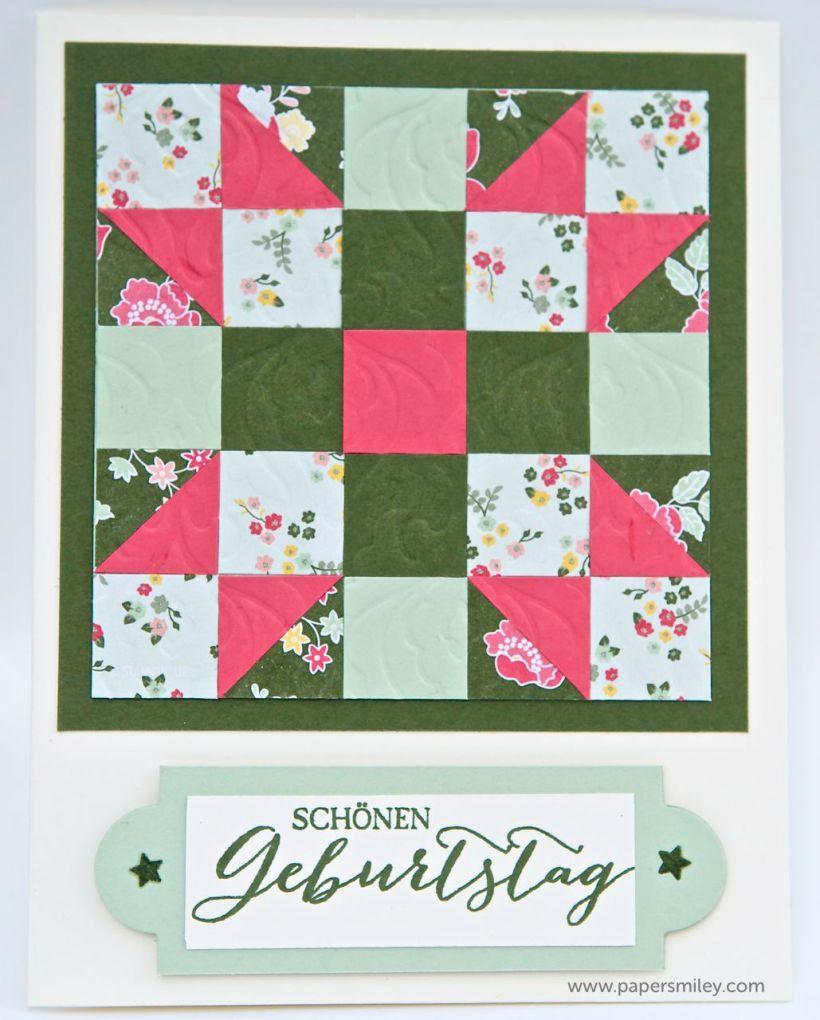 Quiltkarte mit Produkten von Stampin Up!