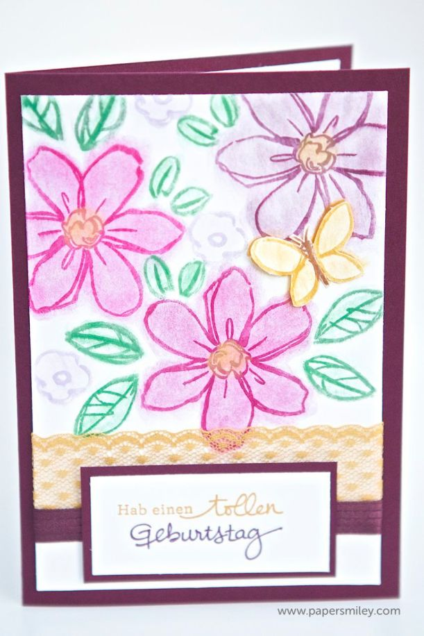 Karte mit Garden in Bloom von Stampin up!