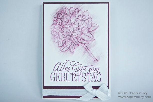 Geburtstagskarte mit VersaMark und Pastellkreide