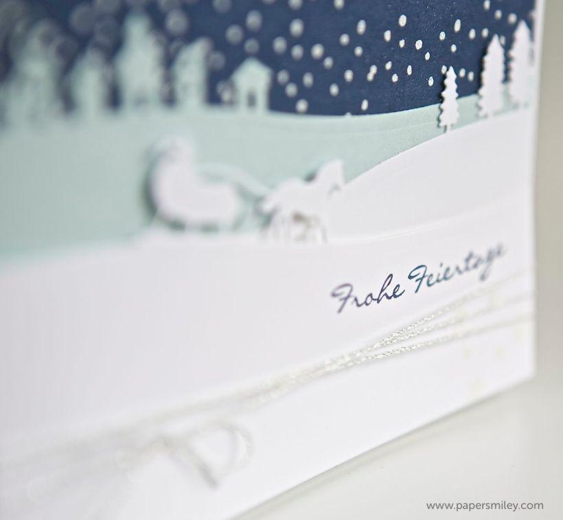 Weihnachtskarte mit den Edgelits von Stampin Up!
