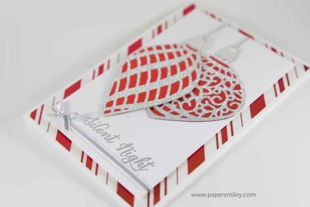 Weihnachtskarte mit den Thinlits Am Christbaum von Stampin Up!