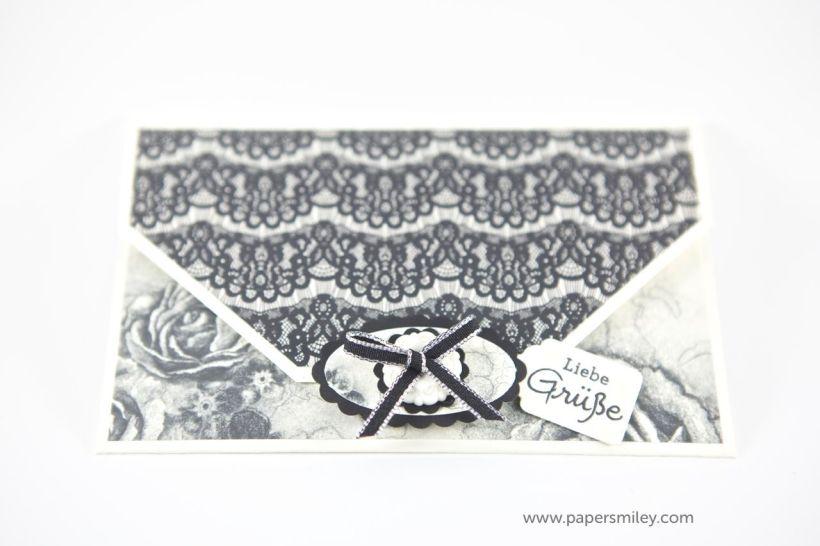 Kleiner Geldumschlag mit zeitloser Eleganz von Stampin up!