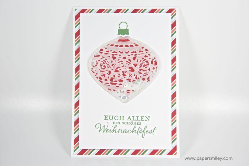 Weihnachtskugel-Schüttelkarte mit Stampin' Up!