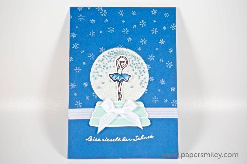 Winterkugel mit Ballerina mit Produkten von Stampin' Up!