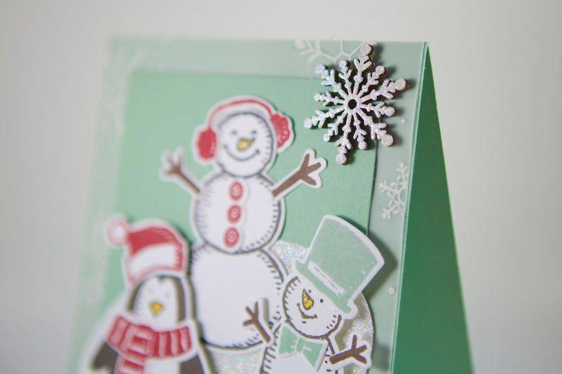Winter-Weihnachtskarte mit Material von Stampin Up!