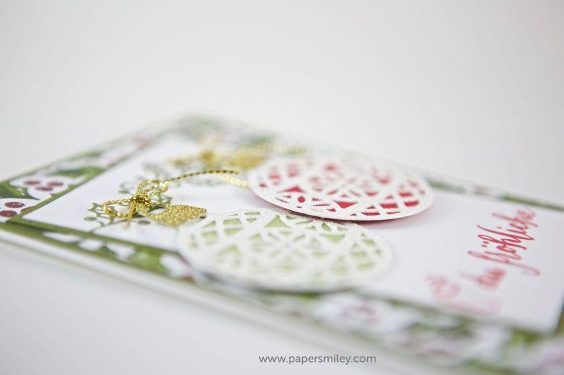 Weihnachtskugeln und Misteln mit Stampin Up!