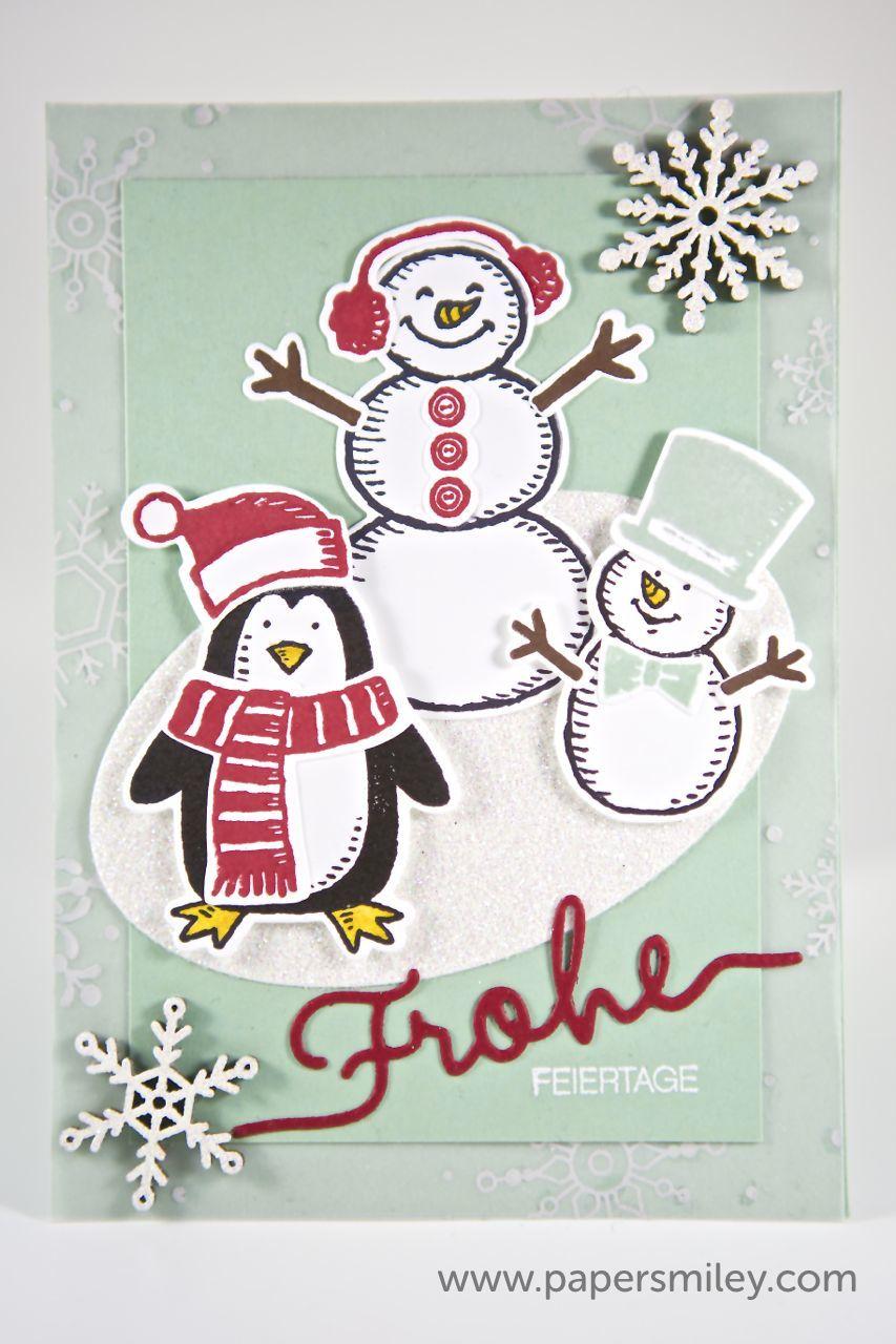 Winterliche Weihnachtsgrüße.Winterliche Weihnachtsgrüße Papersmiley