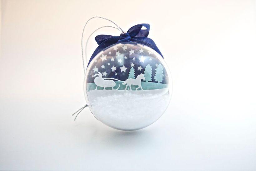 Weihnachtsbaum-Kugel mit Material von Stampin' Up!