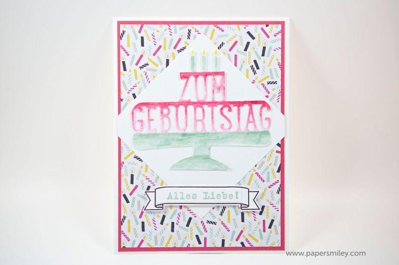 Geburtstagskarte mit Stampin Up!