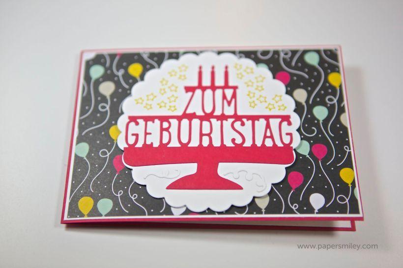 3D-Geburtstagskarte mit Stampin Up!
