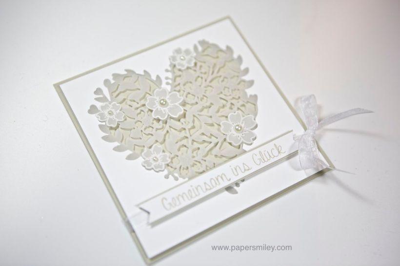 Hochzeits-Herz mit Material von Stampin Up!