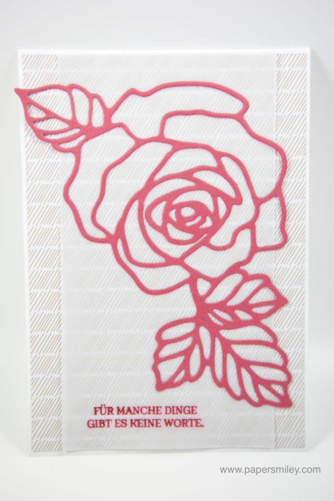 Beileidskarte mit dem Rosengarten von Stampin' Up!