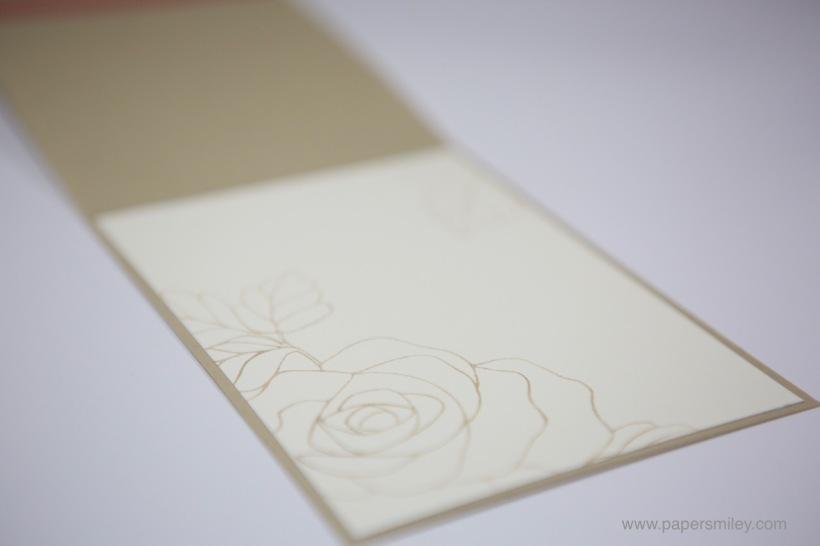 Grußkarte mit dem Rosengarten von Stampin' Up!