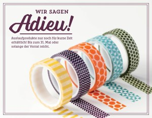Auslaufliste Stampin' Up! 2016