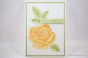 Aquarell Rosengarten mit Stampin' Up!
