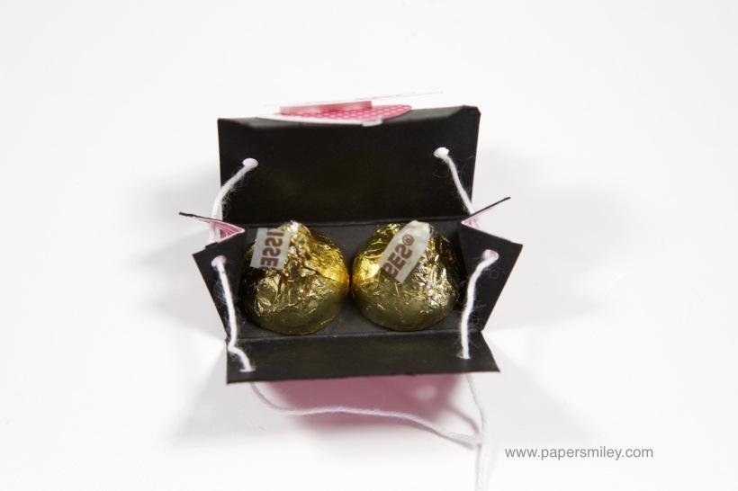 Mini-Geschenkbox für Hershey's Kisses mit Stampin' Up!