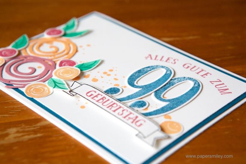 Swirly Bird Geburtstagskarte mit Stampin' Up!