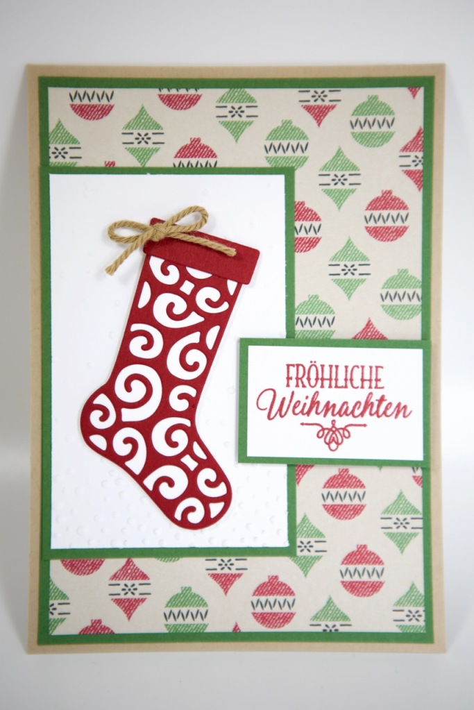 Weihnachtsstrumpf/Christmas Stocking mit Stampin Up