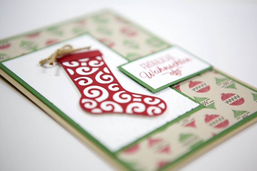 Weihnachtsstrumpf/Christmas Stocking mit Stampin Up