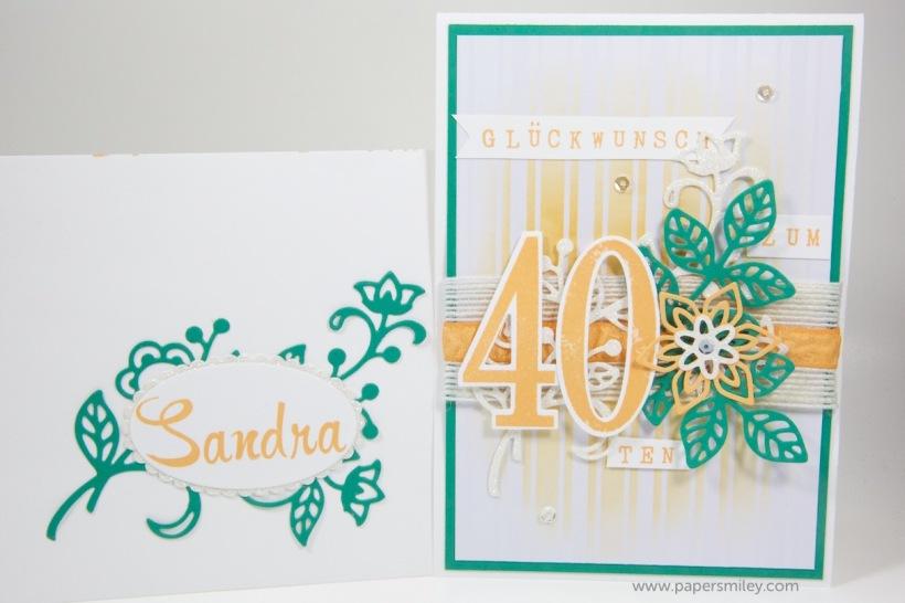 Geburtstagskarte zum 40ten mit Stampin' Up!