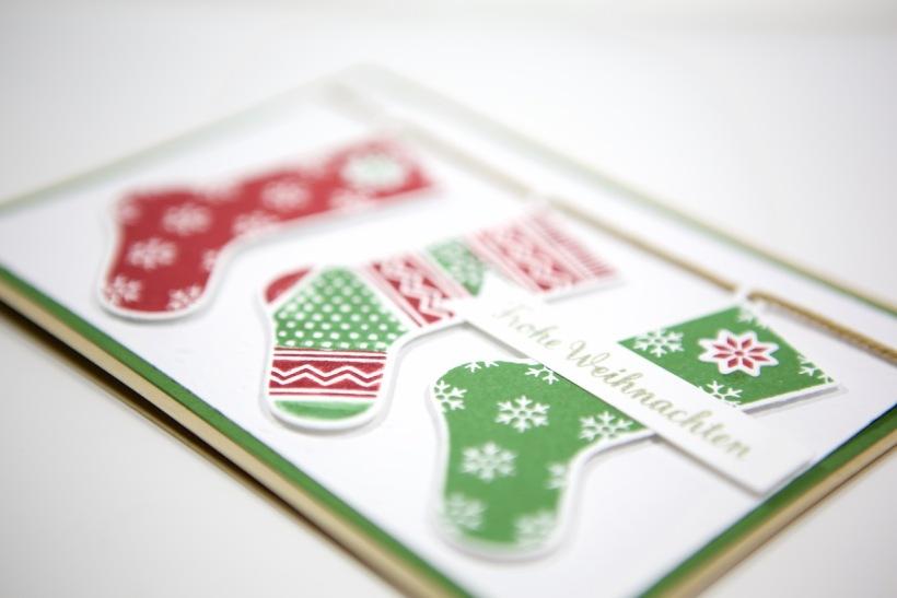 Weihnachtsstrümpfe mit Stampin Up!