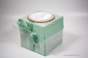 Weihnachtliche Verpackung für eine Duftkerze mit Stampin' Up!