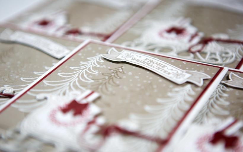 Schlittenkarte mit Stampin' Up!