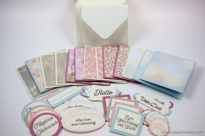 Mini-Karten-Set mit Stampin' Up!