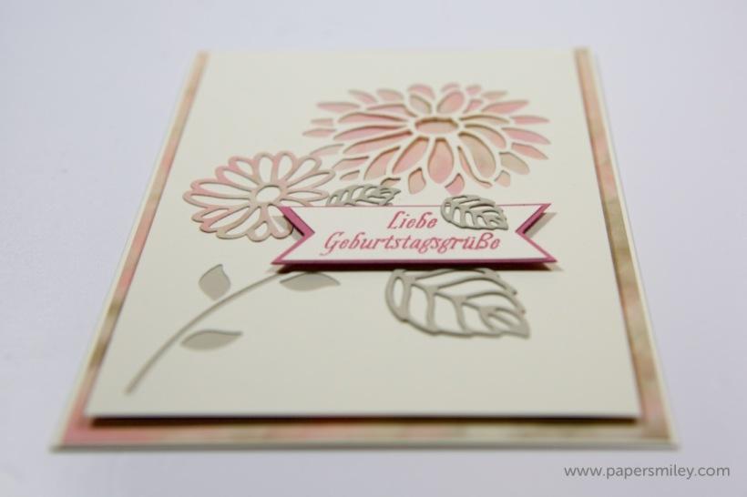 Blumen-Geburtstagskarte mit Stampin' Up!