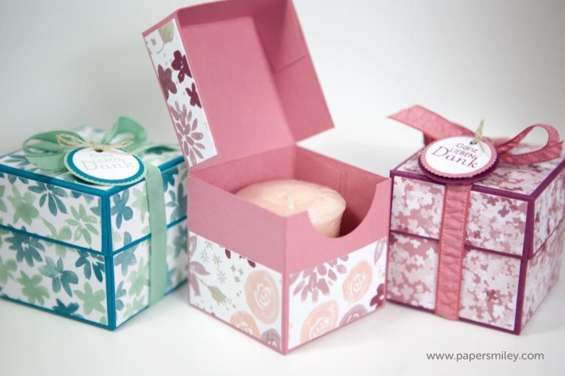 Verpackung für Yankee Votiv-Kerzen mit Stampin' Up!