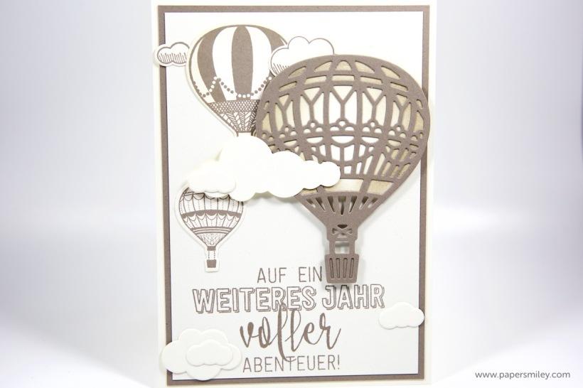 Geburtstagskarte mit Ballon mit Stampin Up