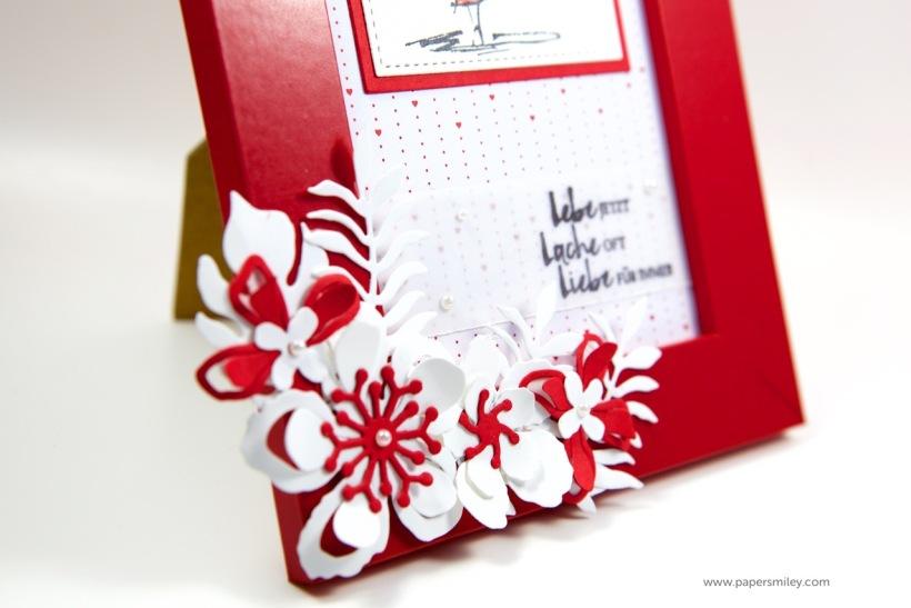 Blumen-Bilderrahmen mit Stil mit Stampin Up