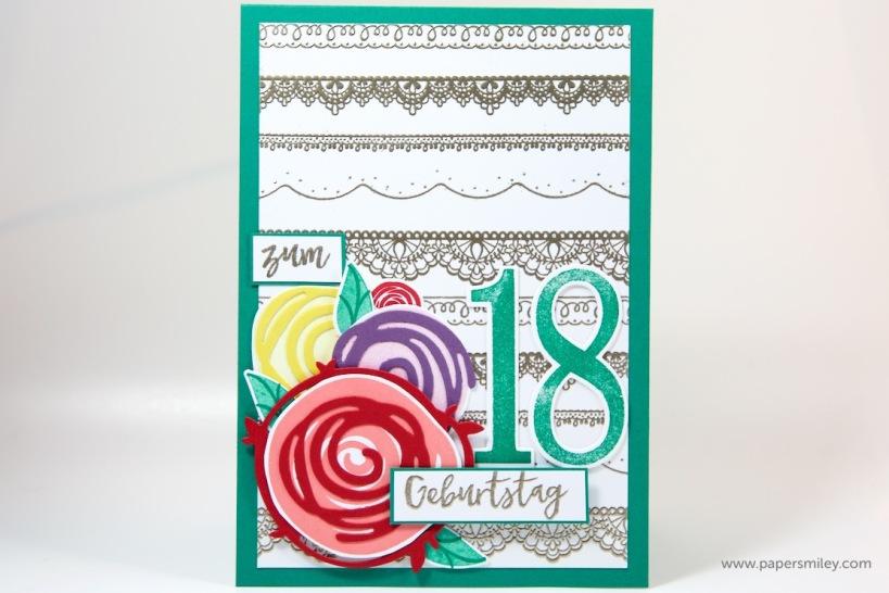 Geburtstagskarte mit Spitze mit Stampin' Up!
