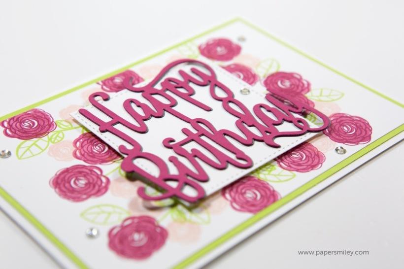 Blumige Geburtstagskarte mit Stampin' Up!