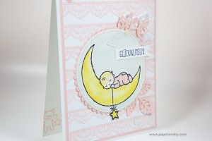 Babykarte in Rosa mit Stampin' Up!