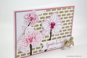 Orchideenkarte mit Struktur mit Stampin' Up!