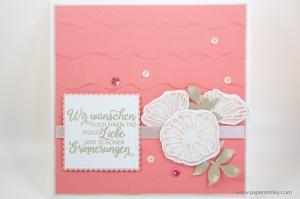 Hochzeitskarte mit Stampin' Up!