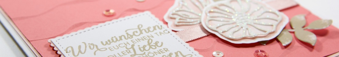 Hochzeitskarte mit Rüschen