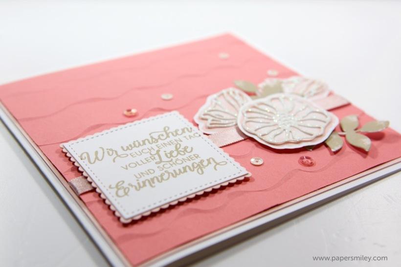 Hochzeitskarte mit Rüschen mit Stampin' Up!