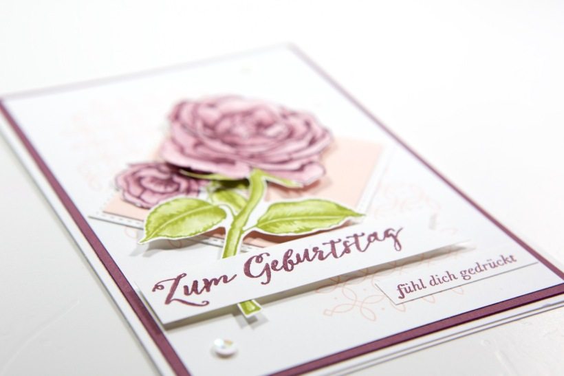 Rosenkarte mit Graceful Garden von Stampin' Up!