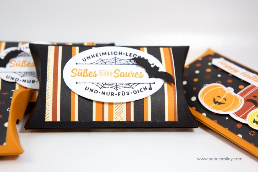 Halloween-Pillowboxes mit Stampin Up