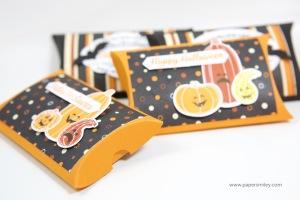 Halloween-Pillowboxes mit Stampin Up