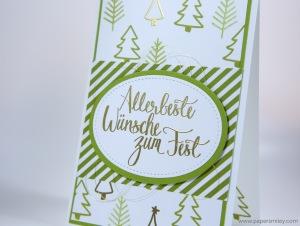 Malerische Weihnachtskarte mit Stampin' Up!