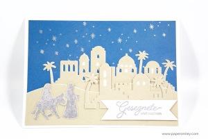 Weihnachtskarte mit Heilige Nacht von Stampin Up!