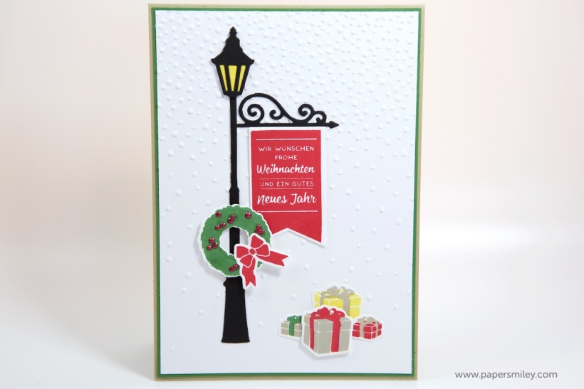 Laternen-Weihnachtskarte mit Stampin Up - Weihnachten im Lichterschein und Weihnachtslaterne