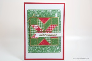 Weihnachtsquilt-Karte
